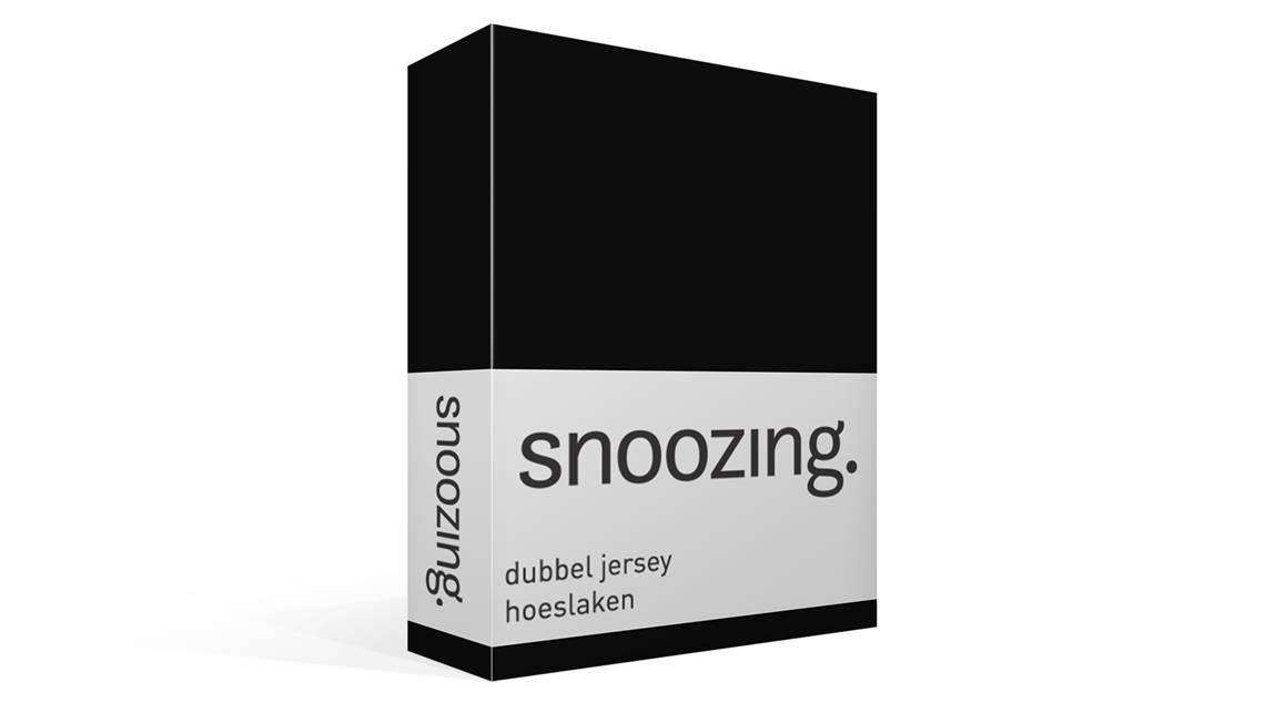 snoozing drap housse en double jersey noir. Black Bedroom Furniture Sets. Home Design Ideas